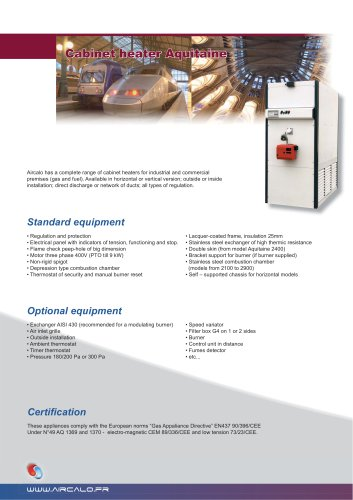 Industrial cabinet heater