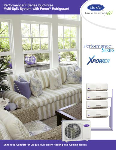 Performance Series Duct Free Multi-Split System with Xpower Technology