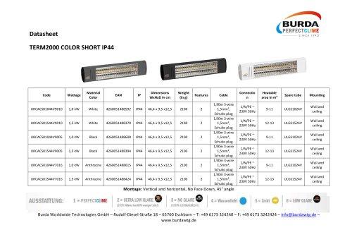 TERM2000 COLOR SHORT IP44_URCACS