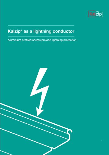Kalzip as a lightning conductor