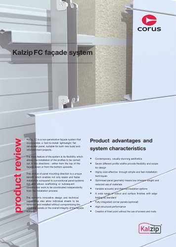 Kalzip FC façade system