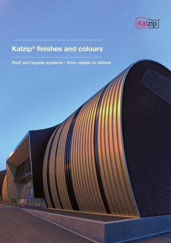 Kalzip Finishes and colours
