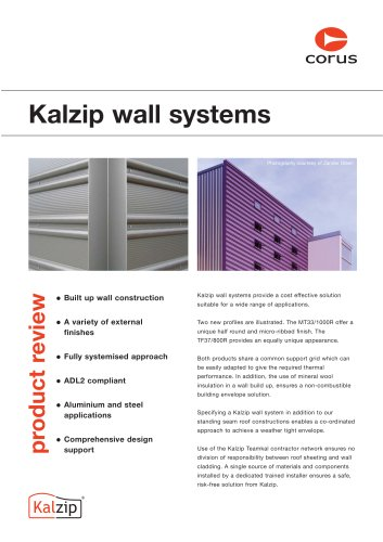 Kalzip wall systems product
