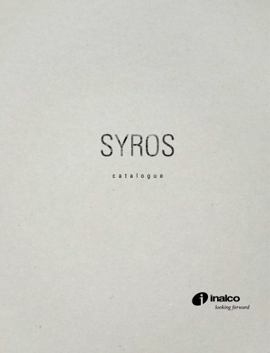 SYROS MONOGRPAHIC CATALOGUE