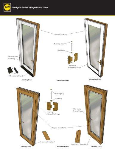 Designer Series® Hinged Patio Door