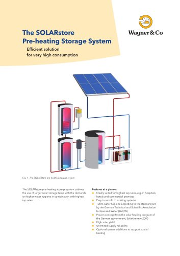 The SOLARstore Pre-heating Storage System