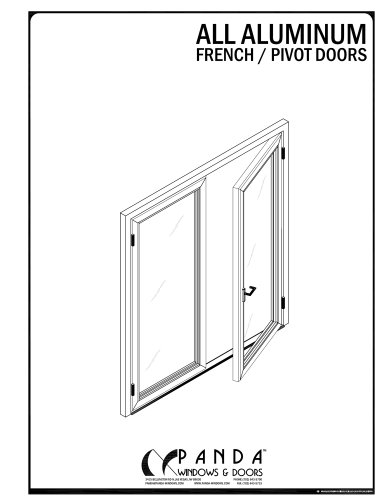 ALUMINIUM FRENCH / PIVOT DOOR