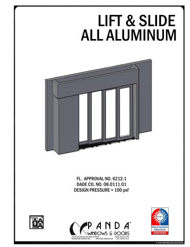Lift & Slide all aluminium