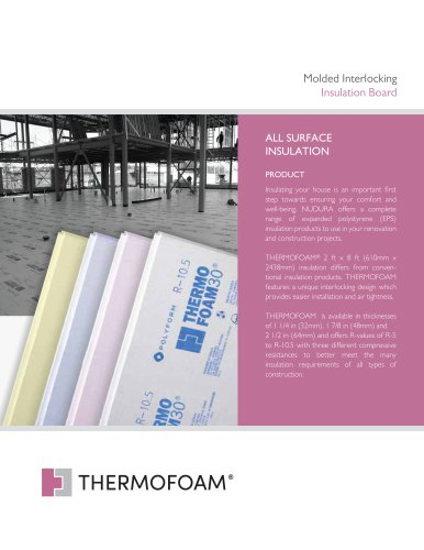 Molded Interlocking Insulation Board