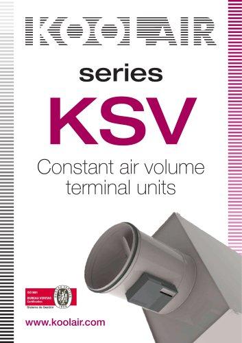 Constant air volume terminal units – KSV