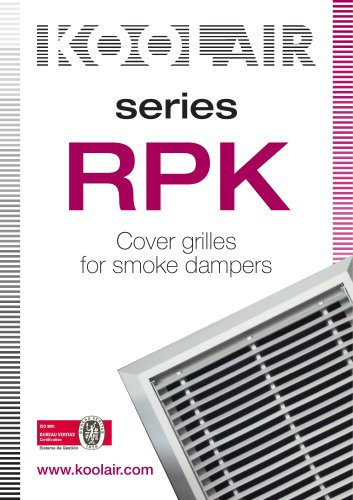 Cover grilles for smoke dampers – RPK