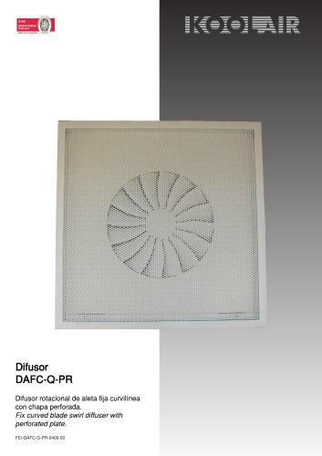 Fixed blades swirl diffusers – DAFC-Q PR