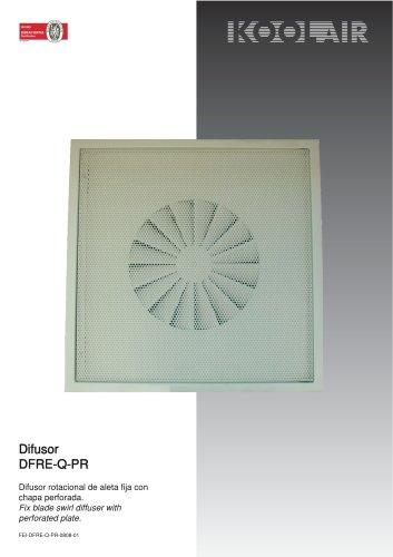 Fixed blades swirl diffusers – DFRE-Q PR