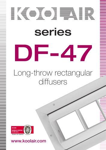 Long-throw rectangular diffusers – DF 47