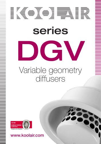 Variable geometry diffusers – DGV