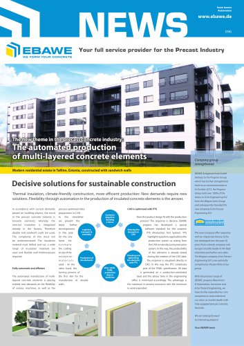 The new theme in the precast concrete industry: The automated production of multi-layered concrete elements