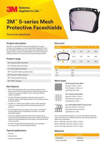 3M™ 5-series Mesh Protective Faceshields