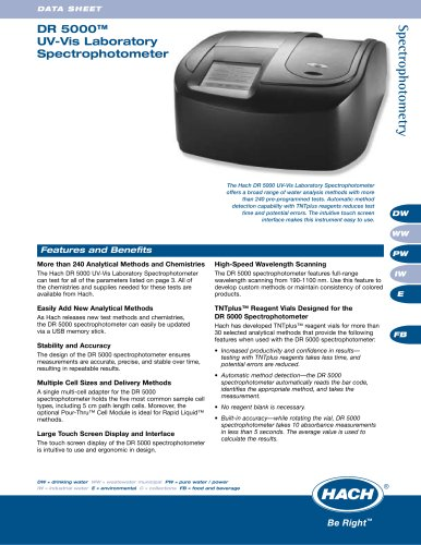 DR/5000 Spectrophotometer