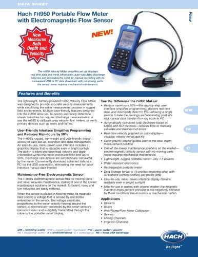 Hach FH950 Portable Velocity Flow Meter