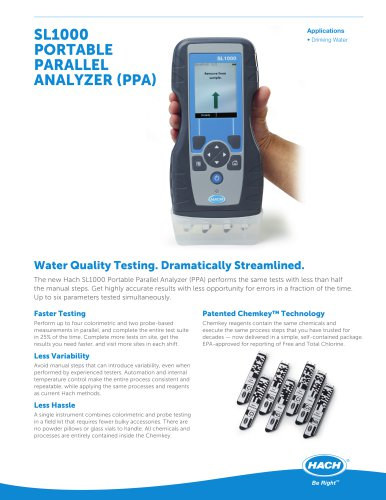 SL1000 PORTABLE PARALLEL ANALYZER (PPA)