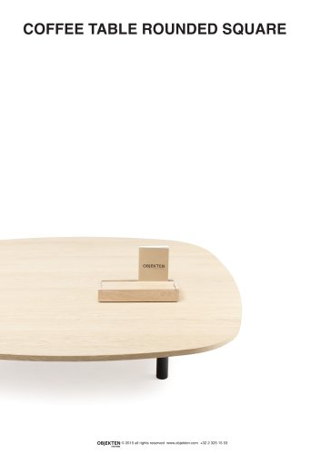 COFFEE TABLE ROUNDED SQUARE