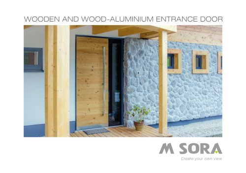WOODEN AND WOOD-ALUMINIUM ENTRANCE DOOR