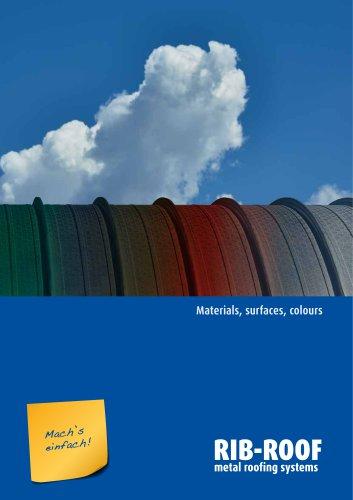 Materials, surfaces, colours